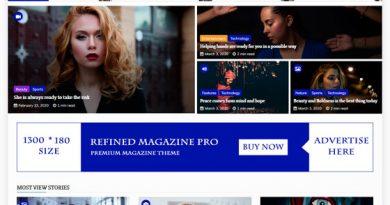 Шаблон Refined Magazine